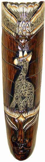 "Маска сувенир ""Бурунг"" 50см. ,  жираф"