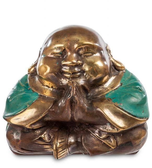 "Фигурка ""Смеющийся Будда - бог богатства"" (бронза, о.Бали) 10 см"