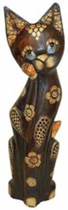 Деревянная фигурка 'Кошка Вьетнамка' 50см.