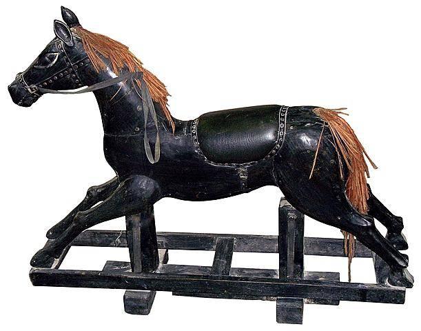 """Антикварная качалка """"Лошадь"""" 100x150cм."""