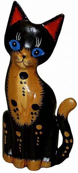 Черный кот фигурка 20см.