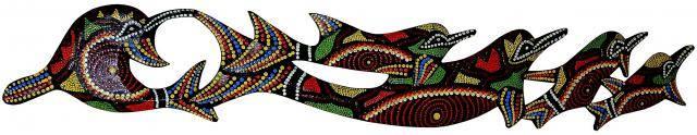 Панно настенное 'Дельфины' 100 см