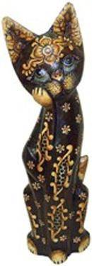 Деревянная фигурка 'Кошка Лунная тень' 40см.