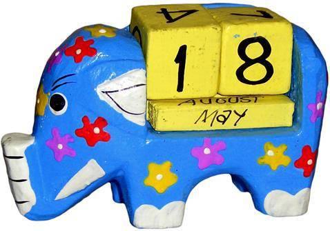 """Календарь с фигуркой """"Слон"""" 13х5см."""