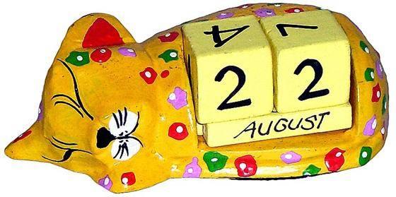 """Календарь настольный """"Спящий котенок"""" 13x5см."""