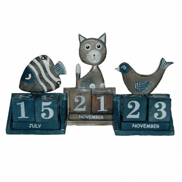 Календарь настольный с фигурками 11см.