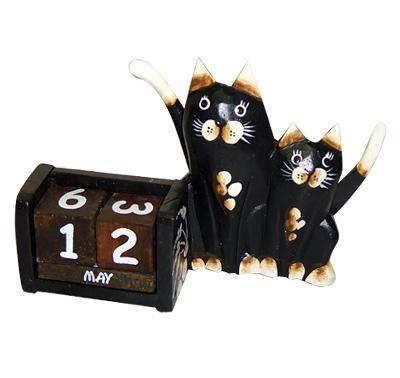 """Вечный календарь """"Кошка с котенком"""""""