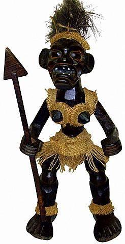 """Деревянная статуэтка племя Асмат, """"Воин"""" 40см."""