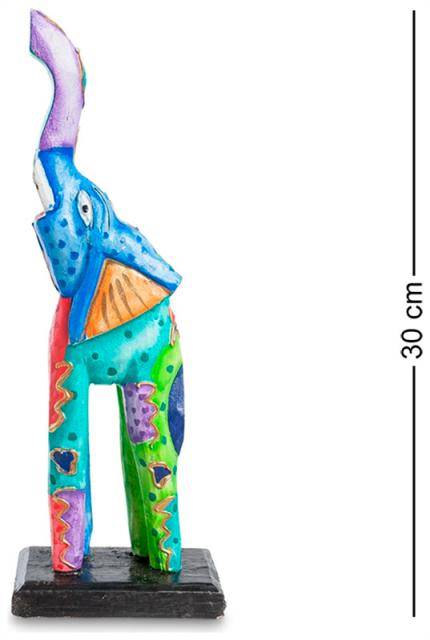 """Статуэтка """"Цветной Слон"""" 30см (албезия, о.Бали)"""