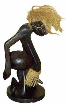 Пепельница c фигуркой аборигена 22см.
