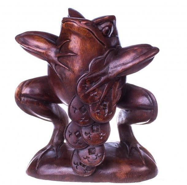 Статуэтка Лягушка с монетами 25 см
