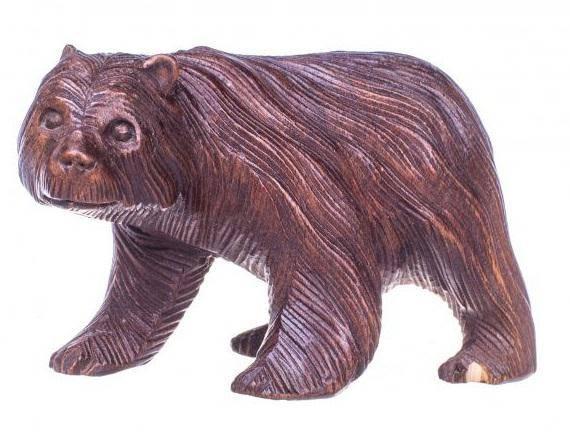 Фигурка из дерева Косолапый 15 см.