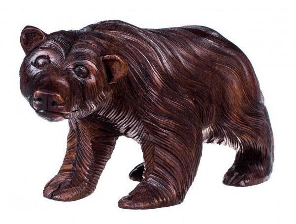 Фигура из дерева Медведь 25 см.