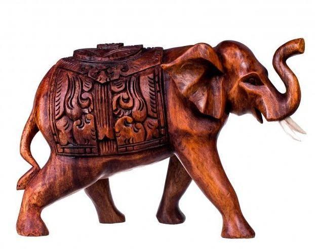 Домашний Слон с попоной 15 см.