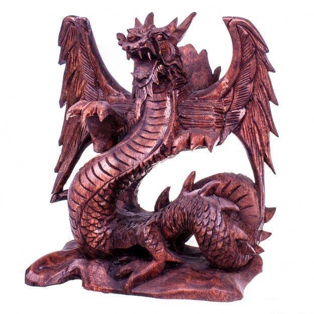 Статуэтка крылатый дракон 30 см.