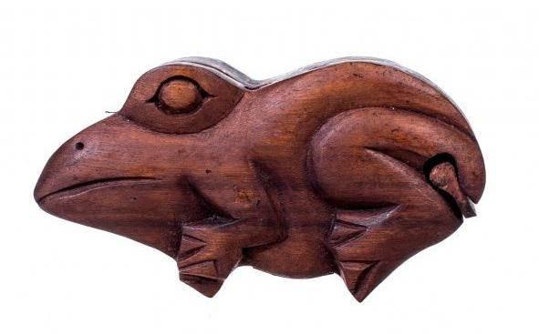 Шкатулка-головоломка Лягушка