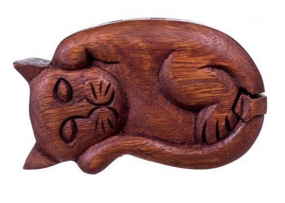 Шкатулка-головоломка Кошка