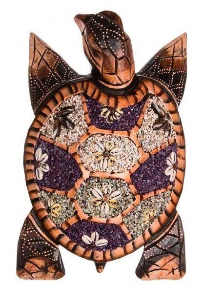Фигурка Черепаха 30 см. (ракушки)