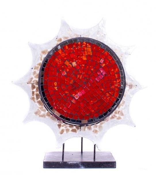 Настольный светильник Красное солнце 45 см.