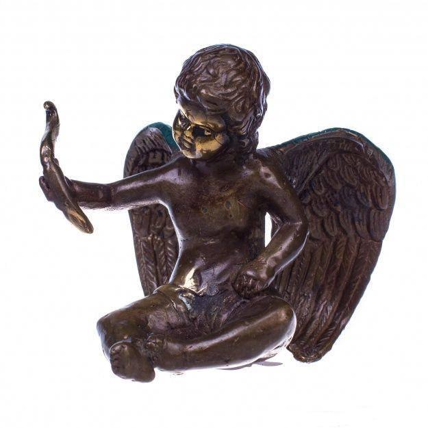 Фигурка из бронзы Ангел с луком высота 9 см.