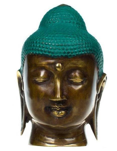 Фигурка из бронзы Голова Будды