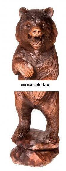 Статуэтка из дерева Медведь 100 см.