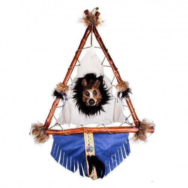 Панно треугольное Волк 50x 60 см.