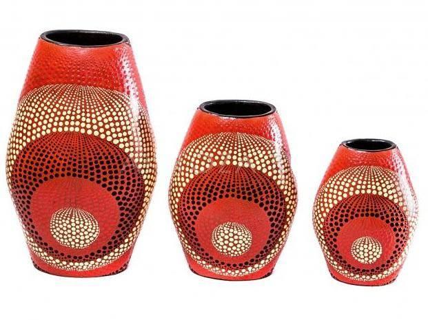 Набор терракотовых ваз 20, 25, 30 см.