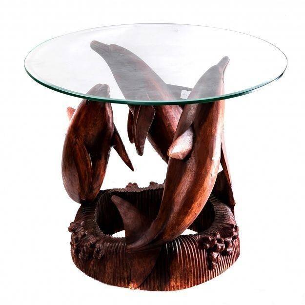 Стол журнальный Дельфины 50 см.