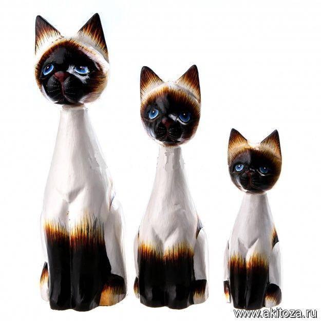 Фигурки сиамских Кошек 15,20,25 см