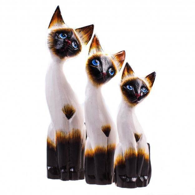Фигурки Сиамские кошки 20,25,30 см