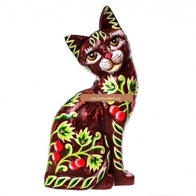 Статуэтка росписная Кошка 25 см