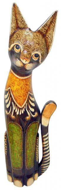 """Статуэтка """"Кот деревянный Смокки"""" 100см."""