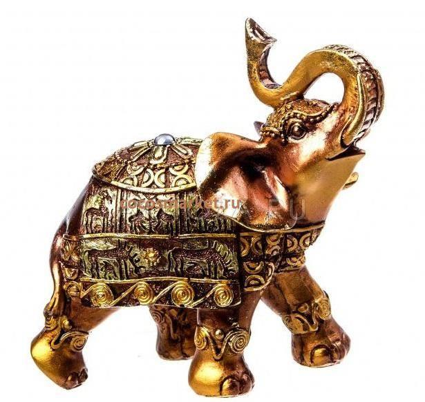Фигурка из полистоуна Слон 15 см