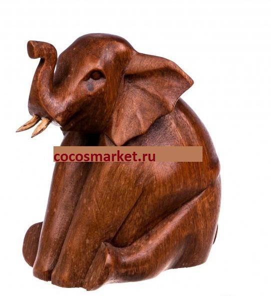 Статуэтка Слон Сидячий 15 см