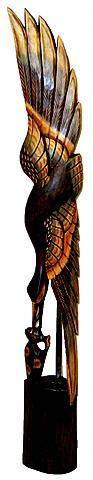 Интерьерная статуэтка 'Цапля с рыбой' 150cм.