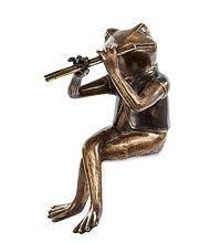 "Бронзовая фигурка ""Лягушка с флейтой"" 28 см"