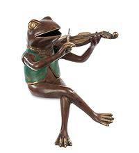 Фигурка «Лягушка со скрипкой» 28 см