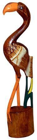 """Фигурка из дерева Фламинго"""" 100cм."""