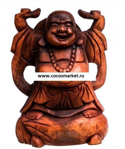 Статуэтка из дерева Хотей 25 см.