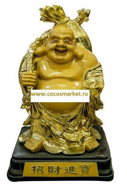 Статуэтка Хотей золотой 120 см