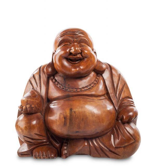 Статуэтка из дерева Хотей - Бог счастья, 32 см