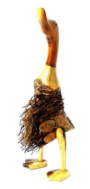 Фигурка Утка из корня бамбука 40 см