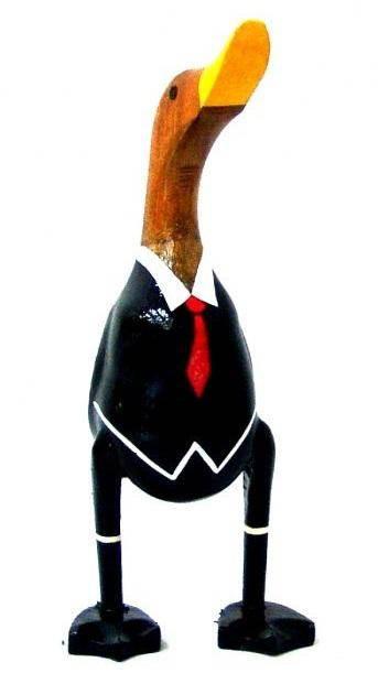 Фигурка из дерева Утка В костюме 40 см