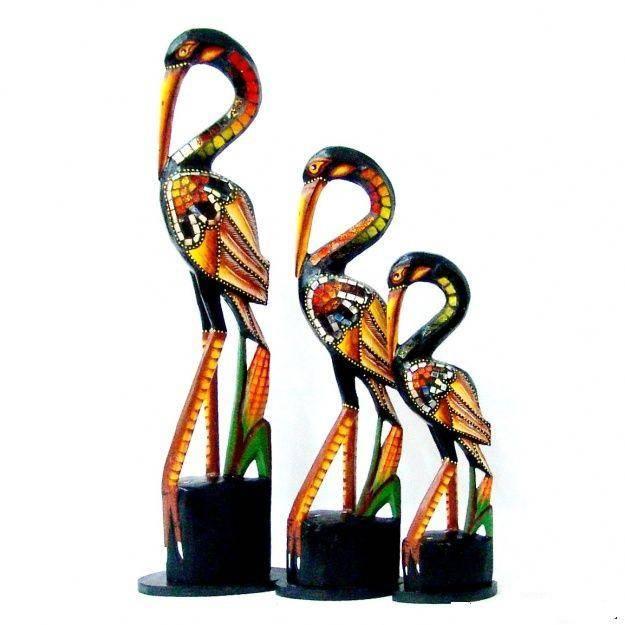 Набор птиц из дерева Цапли 50,40,30 см.
