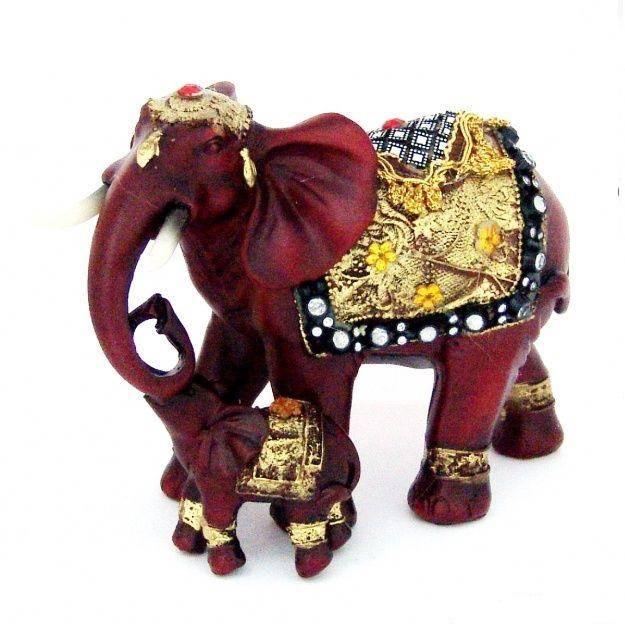 Фигурка Слон со слоненком 12 см