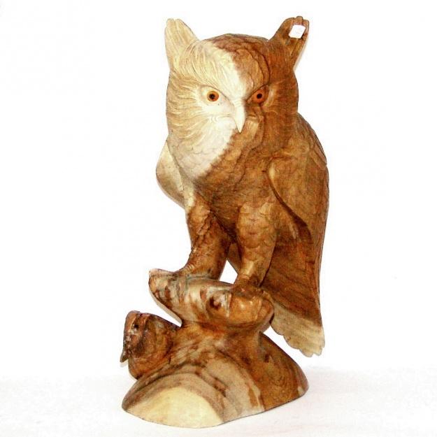 Фигура из дерева Сова с птенцом 50 см.