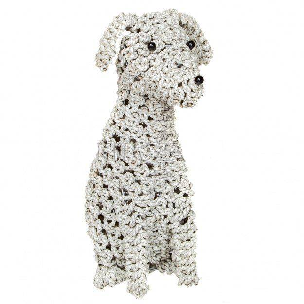 Фигура Собака плетеная Такса