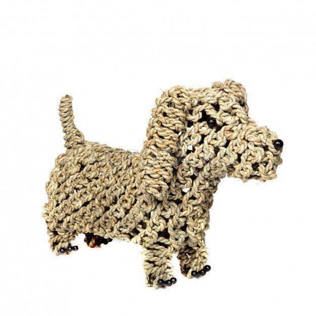 Собака плетеная Такса 30 см