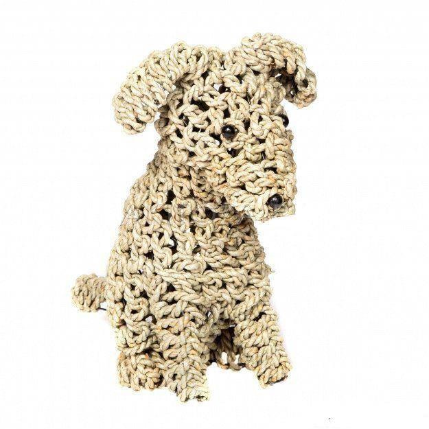 Фигура Собаки плетеная
